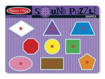 Shapes Sound Puzzle, 9 pieces  -