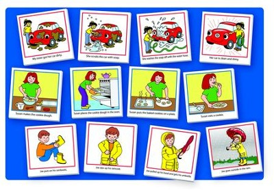 Story Sequencing Pocket Chart Card Set  -