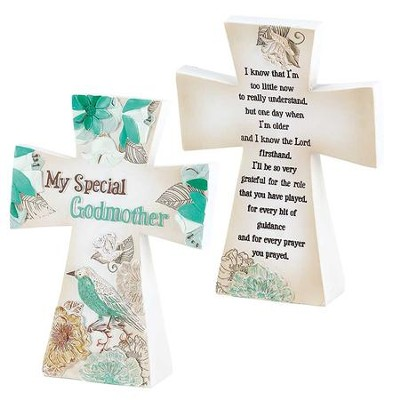 My Special Godmother Tabletop Cross  -