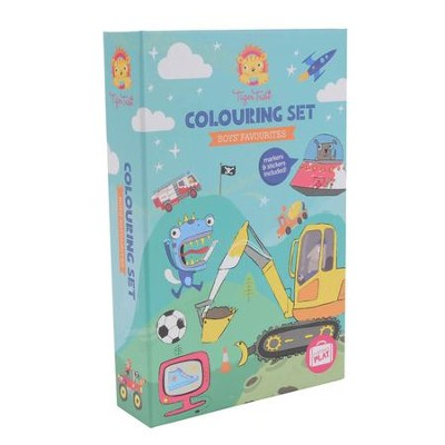 Boy's Favorites Coloring Set  -