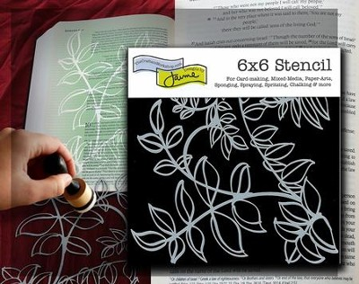 Vines, Bible Journaling Stencil  -