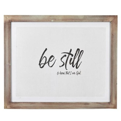 Be Still Wall Plaque  -