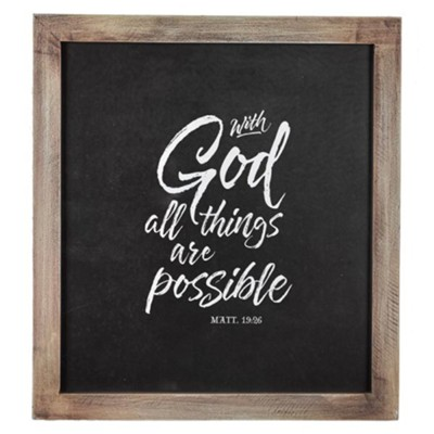 With God All Things Are Possible Wall Plaque  -