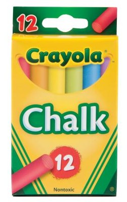 Crayola, Multicolored Chalk, 12 Pieces  -