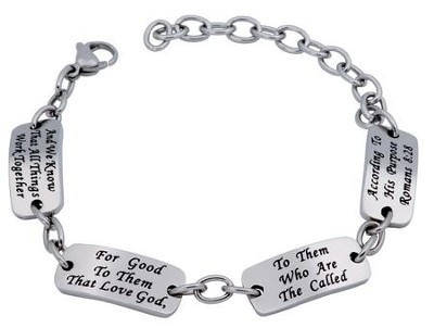 Called Identity Bracelet, Adjustable (Romans 8:28)  -