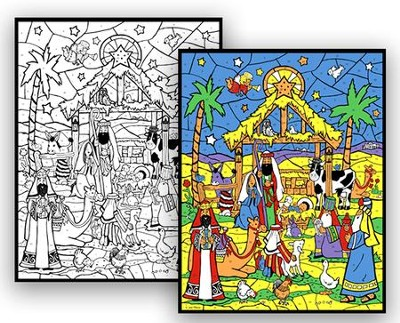 Colorful Starlit Manger Color Your Own Advent Calendar  -     By: Jacki Frerichs