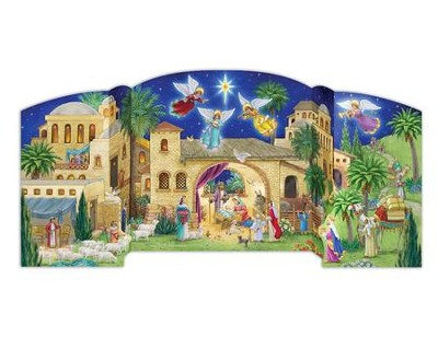 Bethlehem Nativity Free Standing Advent Calendar  -     By: Randy Wollenmann