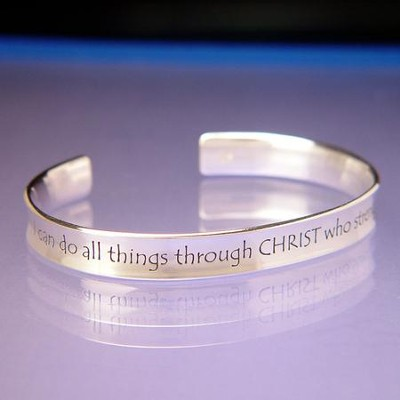 I Can Do All Things--Sterling Cuff Bracelet   -