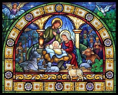 Stained Glass Holy Night Jigsaw Puzzle   -