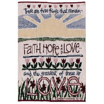 Tapestry Bible Cover, Faith, Hope, Love  -