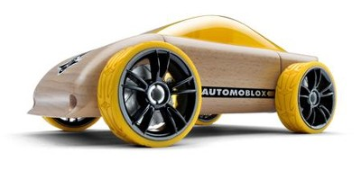 C9 Beech Wood Sportscar Kit with Yellow Tires  -