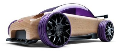 S9-R Beech Wood Sport Sedan Kit with Purple Tires  -