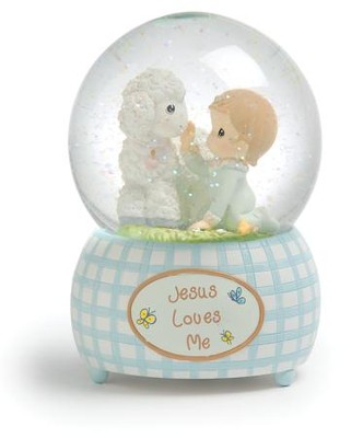 Jesus Loves Me, Boy, Musical Water Globe  -