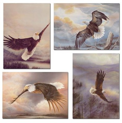Eagle's Wings Birthday Cards, Box of 12   -     By: Larry Martin