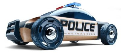 S9 Beech Wood Police Car Kit with Dark Blue Finish  -