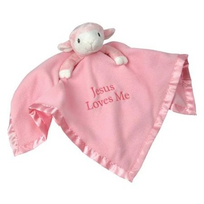 Precious Moments &#153 Lamb Plush Blanket, Pink   -