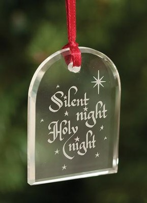 Silent Night, Crystal Ornament  -