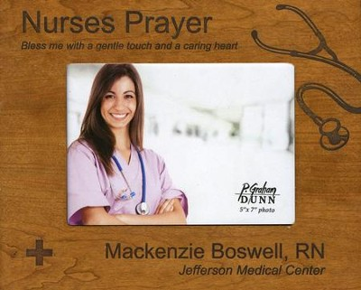 Personalized, Photo Frame, Nurse Prayer, 5x7, Cherry   -