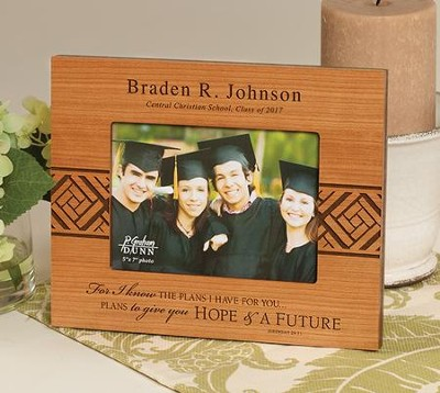Personalized, For I Know the Plans, Graduation Photo   -