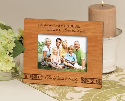 Personalized, As For Me and My House 5X7 Photo   -