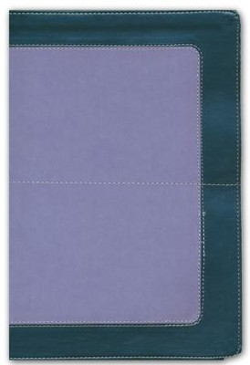 NKJV Super Giant-Print Reference Bible--soft leather-look, charcoal/lavender (indexed)  -