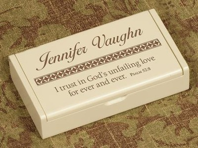 Personalized, God's Unfailing Love Wooden Box   -