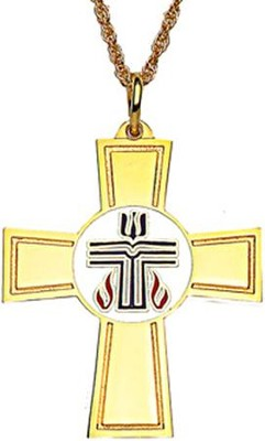 Presbyterian Cross, Gold Plated with 24 Inch Chain  -