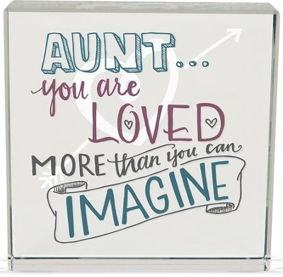 Aunt, You Are Loved Glass Block  -