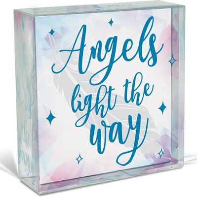 Angels Light the Way, Glass Plaque  -