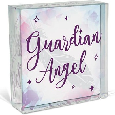 Guardian Angel, Glass Plaque  -