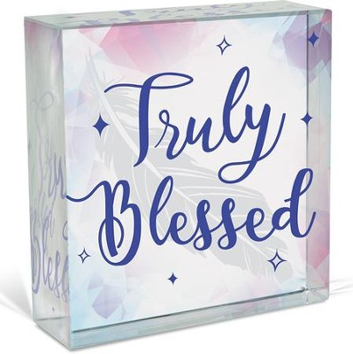 Truly Blessed, Glass Plaque  -