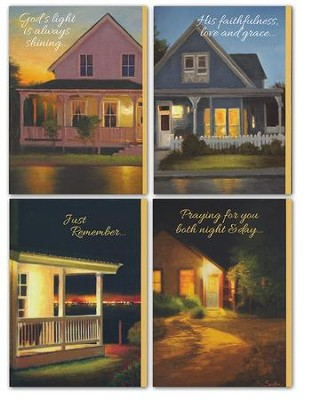 Lights Always On Praying for You Cards, Box of 12  -     By: Lin Seslas