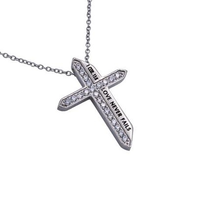 Love Never Fails, Katana Cross Necklace   -