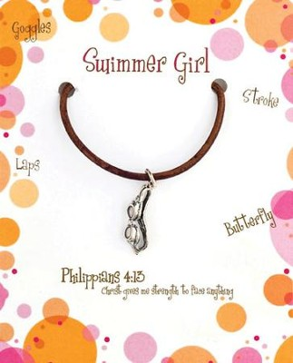 Swimming Necklace, Philippians 4:13  -