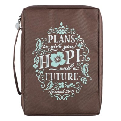 Plans To Give You Hope and a Future Bible Cover, Brown, Medium  -