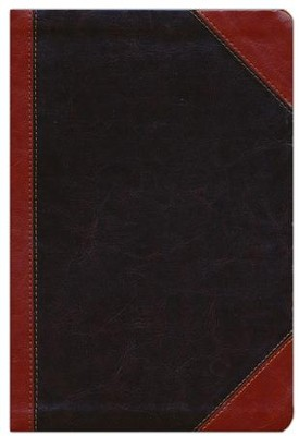 NKJV Giant Print Center-Column Reference Bible, Imitation Leather, Expresso/Auburn Indexed  -