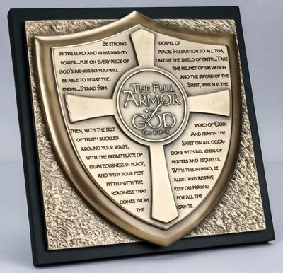 Full Armor of God Sculpture Plaque  -