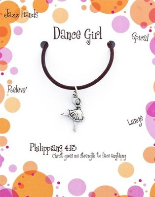 Dance Necklace, Philippians 4:13  -