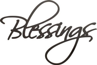Blessings, Word Wall Art  -