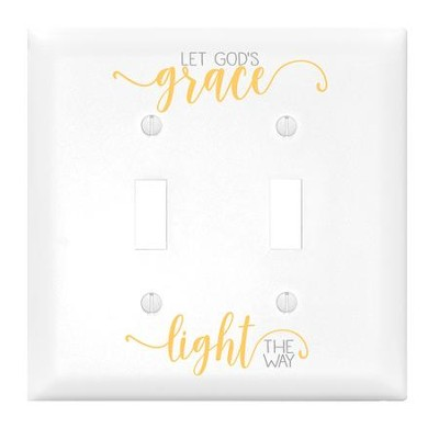 Let God's Grace Light the Way, Double Light Switch Cover  -