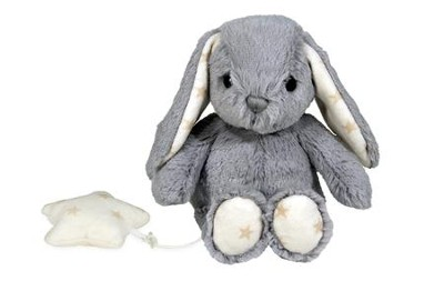 Dreamy Hugginz Musical Plushies, Bunny, Gray  -