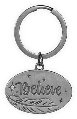 Believe, Feather Keyring  -