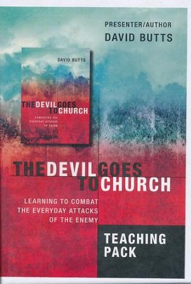 Devil Goes to Church: Combatting the Everyday Attacks of Satan Teacher's Pack (4 CD's and Book)  -     By: David Butts