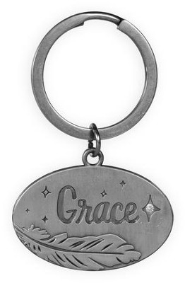 Grace, Feather Keyring  -
