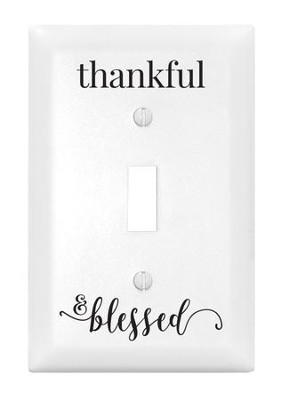 Thankful & Blessed, Light Switch Cover  -