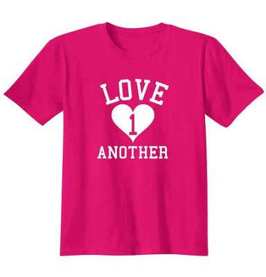 Love One Another, Shirt, Heliconia, Medium  -
