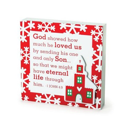 Church, God Showed His Love - Plaque  -