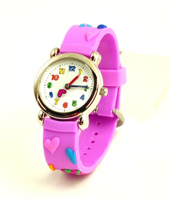 Hearts Child's Watch, Purple  -