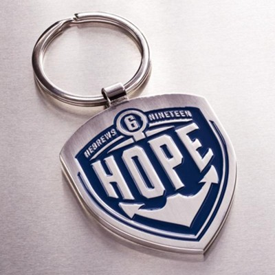 Hope, Metal Keyring  -