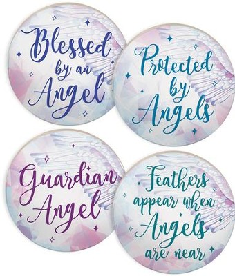 Guardian Angel Car Coasters, Set of 4  -